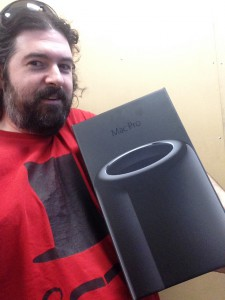 me and a new Mac Pro
